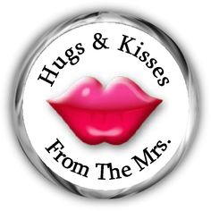 Lips Valentine's Day Personalized Hershey Kisses Labels