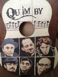 hungarian Quimby Band eggshell guitar