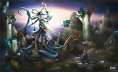 Queen Azshara - Naga form by vaanel