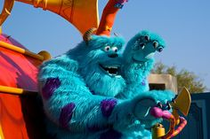 Information about Sulley (James P. Sullivan) and pictures of Sulley including where to meet them and where to see them in parades and shows at the Disney Parks (Walt Disney World, Disneyland, Disneyland Paris, Tokyo Disneyland) Disney Monsters, Monsters Inc, Disney Mickey, Mickey Mouse, Disney Trips, Disney Parks, Walt Disney World, Tokyo Disneyland, Disneyland Resort