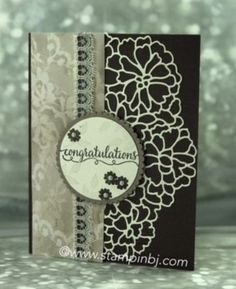BJ's Stampin' Spot: A New Year's Wedding So in Love, So Detailed thinlits Stampin' Up! BJ Peters, Wedding card