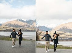 Fun and natural engagement photos. Queenstown Enagagement session #engagementsession engagemtnsphotographer #engagementphotos Wild & Grace. Boutique Wedding Photography Auckland, New Zealand and Worldwide | Queenstown Engagement Photographer, Glenorchy Arrowtown engagement session, New Zealand Queenstown pre-wedding photo session