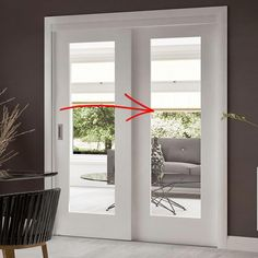Easi-Slide OP3 White Shaker 1 Pane Sliding Door System in Four Size Widths with Clear Glass - Image 5