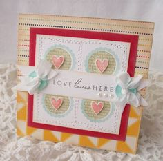 Love Lives Here Handmade Card by creativepapertrail on Etsy