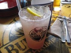 STRAWBERRY LEMONADE  Bubba Gump Copycat Recipe   Makes 1 Large Drink    2 tablespoon frozen strawberries with syrup ( let them melt )  1...