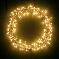 Christmas light wreath