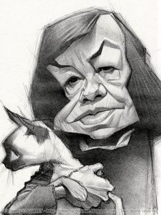 US. Novelist Patricia Highsmith, illustration of Thierry Coquelet