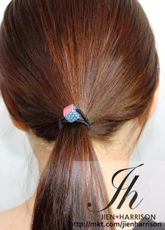 SUPPORT USA TEAM WITH STARS AND STRIPES Usa World Cup, Ball Hairstyles, Star Hair, Hair Ties, Bobby Pins, Hair Accessories, Stripes, Stars, Beauty