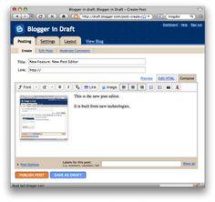 Blogger novo editor de mensagens Como activar