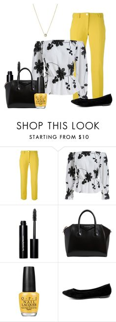 """""""Please Don't Bother Trying to Find Her"""" by mford21 ❤ liked on Polyvore featuring Versace, Bobbi Brown Cosmetics, Givenchy, OPI, Breckelle's and Links of London"""