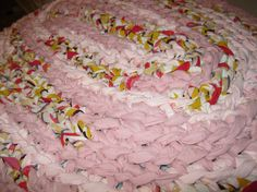 Pink and Red Oval Crochet Rag Rug by sheilaringel on Etsy, $50.00