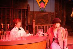 The speakeasy bar in Bugsy Malone with Joe the barman & Blousey