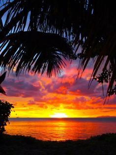 Sunsets @ Leleuvia Island Resort...how amazing.  Follow my board for truly inspiring ideas on an elegant wedding in Fiji.