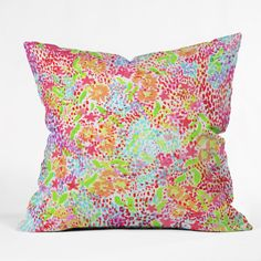 Joy Laforme Abstract Tropics I Throw Pillow | DENY Designs Home Accessories