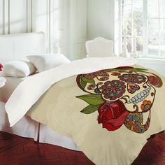 DENY Designs Home Accessories | Valentina Ramos Sugar Skull Duvet Cover