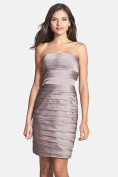 Ruched Strapless Cationic Chiffon Dress by ML Monique Lhuillier Bridesmaids on Dress Plus Size, Plus Size Outfits, Chiffon Dress, Lace Dress, Nice Dresses, Formal Dresses, Awesome Dresses, Monique Lhuillier Bridesmaids, Nordstrom Dresses