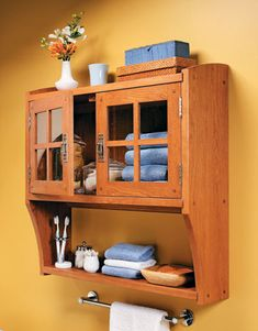 You can create beautiful, versatile storage while giving your woodworking skills a workout when you decide to build this timeless cabinet. Wall Cabinet, Shelves, Cabinet, Woodworking Plans Toys, Mission Style Furniture, Wood Diy, Furniture Projects, Woodworking Projects, Woodworking Designs