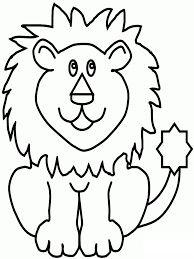 رسومات اطفال سهلة للتلوين حيوانات أليفة برية Draw Animal For Kids Lion Coloring Pages Animal Coloring Pages Coloring Pages