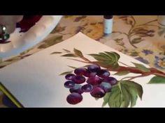 Painting Grape Vines for Karen N - YouTube