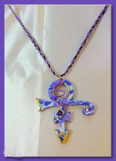 Prince Love Symbol Necklace - Purple Rain Prince Rogers Nelson Tribute Musician RIP by SomewhatOdd on Etsy