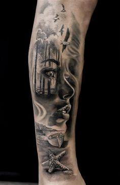 Portrait Tattoo Sleeve, Tiger Tattoo Sleeve, Realistic Tattoo Sleeve, Forearm Sleeve Tattoos, Bull Tattoos, Dad Tattoos, Body Art Tattoos, Tribal Tattoos, Tattoos For Guys