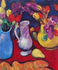Matthew Smith still life with flowers