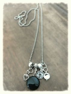 M-Brace sieraden - Ketting met Onyx hanger