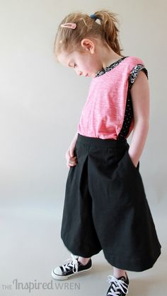 Project Run & Play: Mademoiselle February by TheInspiredWren | Project | Sewing / Shirts, Tanks, & Tops | Kids & Baby | Pants & Shorts | Skirts | Cardigans & Sweaters | Kollabora