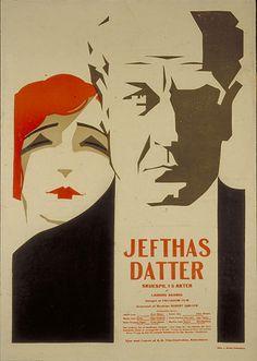 Dansk kulturarv | Jefthas Datter Graphic design poster art plakat kunst danish film dansk film danmark