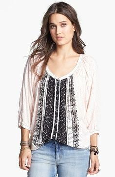 Free People 'Days of Romance' Peasant Top available at #Nordstrom