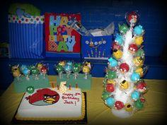angry bird cake pops