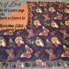 Beautiful hand-tied fleece blankets
