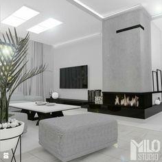 Open Plan Kitchen Living Room, Living Room Modern, Home Living Room, Modern Bedroom, Living Room Decor Fireplace, Home Fireplace, Fireplace Design, Living Room Tv Unit Designs, Home Interior Design