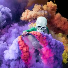 Skeleton of color by Butch Locsin | ARTNAU