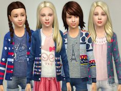 Pretty Cardigan P3  Found in TSR Category 'sims 4 Female Child Everyday'