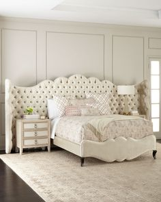 Shop Adelie California King Bed from Haute House at Horchow, where you'll find new lower shipping on hundreds of home furnishings and gifts. Panel Headboard, Headboard And Footboard, Headboards For Beds, Bedroom Furniture, Furniture Design, Bedroom Decor, Bedroom Ideas, House Furniture, Bed Ideas