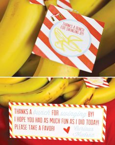 (Curious George) Bananas & Bow ties Party Favors