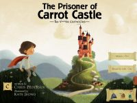 Title screen for The Prisoner of Carrot Castle iPad storybook app
