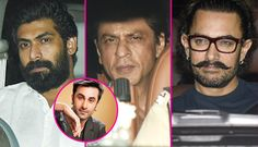 [All Photos] Shah Rukh Khan, Rana Daggubati, Aamir Khan come together for Ranbir Kapoor's 35th birthday bash #FansnStars