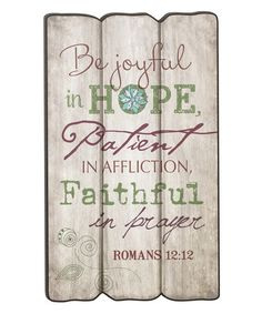 Look what I found on #zulily! 'Be Joyful' Fence Post Wall Sign #zulilyfinds