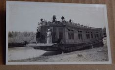 Photograph-Social-History-House-Boat-India-1930-039-s-late-Days-Of-The-Empire