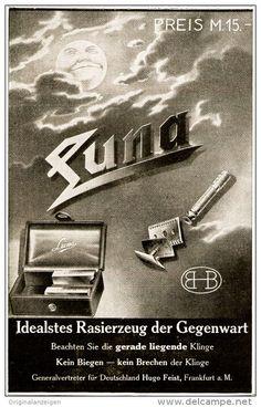 Original-Werbung/ Anzeige 1911 - LUNA RASIERZEUG - FEIST - FRANKFUERT a.M. - ca. 90 x 140 mm