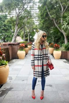 So in love with this Plaid Woolen Coat!