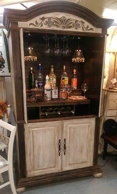 65 armoire bar cabinet coffee station wine cabinet rustic bar 45 « Home Design Refurbished Furniture, Bar Furniture, Repurposed Furniture, Furniture Projects, Furniture Makeover, Leather Furniture, Armoire Bar, Bar Hutch, Wine Hutch