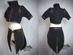 Anime Outfits, Mode Outfits, Fashion Outfits, Warrior Outfit, Leather Armor, Leather Skirt, Medieval Clothing, Medieval Outfits, Drawing Clothes