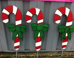 share your favourite Large Candy Canes Holiday Yard Decor Yard Art Yard Signs images in to your beloved Firend and Family. Wooden Christmas Yard Decorations, Christmas Wood, Christmas Signs, Christmas Projects, Holiday Crafts, Christmas Holidays, Christmas Ornaments, Christmas Candy, Diy Christmas Yard Art