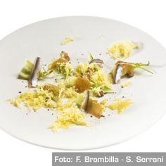 Datteri, puntarelle, alici marinate e burro di olio - Chef Matteo Baronetto e Carlo Cracco