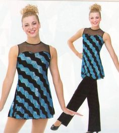 ELECTRIC AVENUE Lined Sequin Dress & Velvet Pants Dance Costume Child & Adults #Cicci