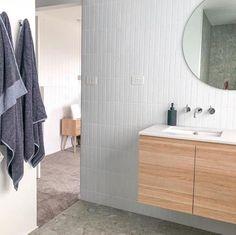 Albert Park Full White Subway Tile - No - Bathroom Wall Tile, Bathroom Interior, Childrens Bathroom, Bathroom Makeover, Contemporary Bathroom Tiles, Tile Bathroom, Modern Bathroom Decor, Laundry In Bathroom, Bathroom