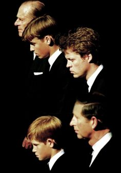 September 06, 1997: Prince Harry joined his father Prince Charles, his brother Prince William, his grandfather Prince Philip and his uncle Charles Spencer in walking behind their mother's carriage which was on route to Westminister Abbey.(x)
